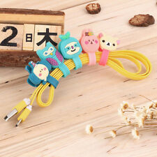 Headphone Earphone Earbud Silicone Cable Cord Wrap Winder Organizer Holder BS