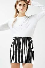 TOPSHOP *Monochrome Oil Stripe Mini Skirt* SIZE_UK6_8_10_12_14_16