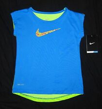 NWT Girls NIKE Dri-Fit Stay Cool Super Silky Swoosh T-shirt - size 5 or 6
