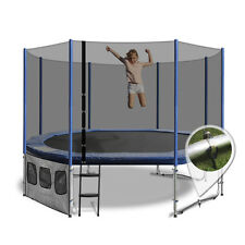 7x10ft Oval Summit Trampoline - Blue - Free Delivery