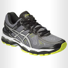Asics Mens Gel Kayano 22 (2E)  Charcoal/Silver/Lime T548N 7393