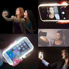 New LED Lume White Light Up Selfie Mobile Phone Case Cover For Apple iPhone 6 6S