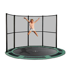 8ft Round Inground Trampoline with Half Net- Made in Europe- Free Delivery
