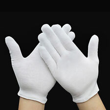 12Pairs White Inspection Cotton Work Gloves Jewelry Work Etiquette Glove Optimal