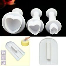 Two Tier Porcelain Plunger Cutter Cake Stand Smoother Tool Craft Wedding Xmas UK