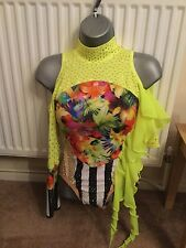 girls freestyle dance slow stoned costume age 10/12 years in great condition
