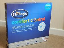 SILENTNIGHT COMFORT CONTROL ELECTRIC BLANKET SINGLE or DOUBLE BED SIZE NEW