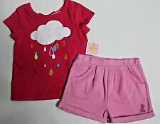 Juicy Couture Toddler Girls' Pink Short Sleeve Tee Top & Short Set $58