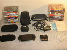 Sony PSP 1000 Playstation Portable Handheld Console Bundle 10 Games 10 UMD Video