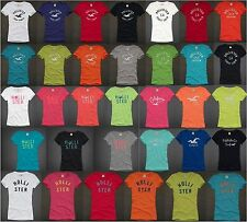 HOLLISTER BY ABERCROMBIE WOMENS T-SHIRT EMBROIDERED TOP TEE NWT HCO SHIRT NEW