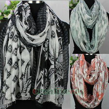 Womens Vintage Paisley Floral Geometric Long Shawl/Infinity Scarf Ladies Scarves