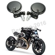 Round Black Motorcycle Handle Bar End Mirrors And  Hand Grips For Confederate US
