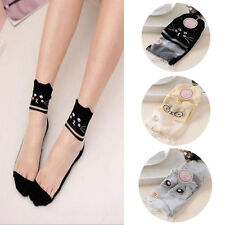 New Mesh Women Comfy Lace Sock Knit Elastic Ankle Socks 1 Pairs Cotton