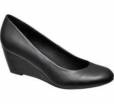 Deichmann Graceland women Wedge Court Shoes black New