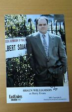EASTENDERS SHAUN WILLIAMSON BARRY EVANS HAND SIGNED BBC CAST CARD FREE P&P