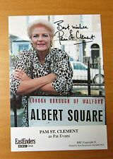 EASTENDERS PAM ST. CLEMENT PAT EVANS HAND SIGNED BBC CAST CARD FREE P&P