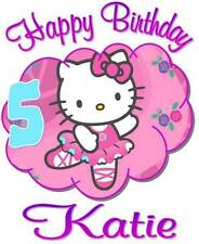 HELLO KITTY Personalized BIRTHDAY T-SHIRT AnyName & Age Printed Super Soft