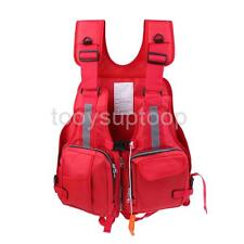 Professional Fishing Safety Life Jacket Survival Vest Boating with Whistle