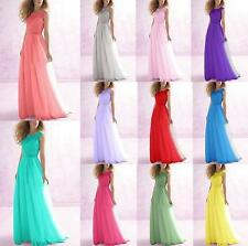 Long Chiffon Evening Formal Party Ball Gown Prom Bridesmaid Dress stock sz 6 -18