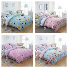 Single/Double/Queen/King Size Bed - New Quilt/Duvet/Doona Cover Set Floral Cover