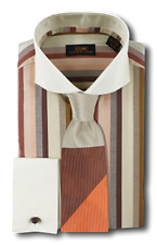 Dress Shirt Only by SL - Cutaway Spread Collar | French Cuff- Brown -DW603-BR