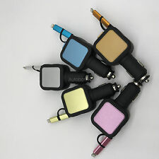 Black Retractable Car Charger with USB Port Adapter for iPhone 5 6 7 USD 5 color