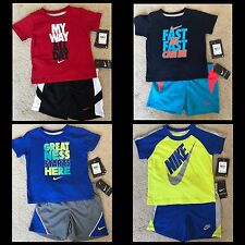 NWT Nike Infant Boys 2 Pc Set Tee Shirt & Shorts U Pick Style & Size!!! 12M 18M
