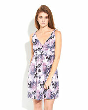 """Lovely Matica Couture Women's V-neck Lilac and Gray """"Imperio"""" Dress"""