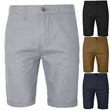 New Mens Casual Chino Shorts Summer Cotton Work Casual Twill Roll Up Half Pant