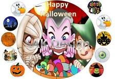 7inch Halloween Cake and 10 cup cake topper on Edible Rice Paper
