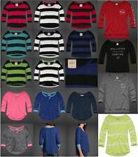 HOLLISTER BY ABERCROMBIE WOMENS LONG SLEEVE T-SHIRTS 3/4 TOP TEE STRIPED HCO NWT