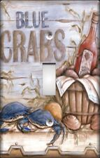 BLUE CRABS CATCH OF THE DAY SWITCH PLATE COVER -hgj8Z