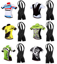 Summer Jersey Shirt + Bib Shorts Pants Set Men Cycling Bicycle Team Clothing Top