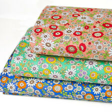 Japanese Fabric Oxford Cotton Fabric Flower From Japan by 1/2 yard