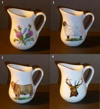 * SCOTTISH THEME CREAM / MILK JUGS 4 DIFFERENT DESIGNS *
