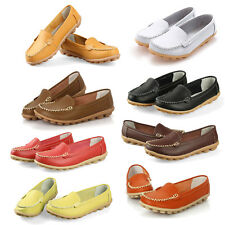 Women Flats 100% Genuine Leather Shoes Slip-on Comfort 8 Colors Moccasins K8L9