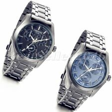 Fashion Business Mens Watches Stainless Steel Quartz Analog Casual Wrist Watch