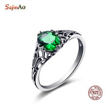 925 Sterling Silver Ring Size 5 6 7 8 9 10  women Birthstone rings