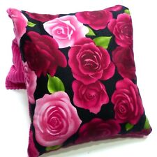 WHEAT BAG HEAT PACK 34 x 17 cm Pink & Red Roses Choose scent buy 2 & save $10