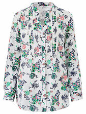 Julipa plus size 14 18 22 28 Cotton Blouse Butterfly Print White Marisota New