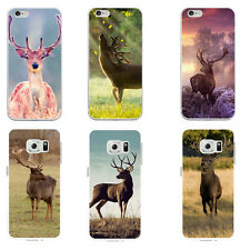 Cute Deer Pattern Case Cover for iPhone 4 5 6 7 7 Plus Samsung Galaxy Dreamed