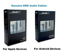 Genuine SMS Audio 3.5mm Cable Mic Volume Control Android Apple MFI By 50 Cent
