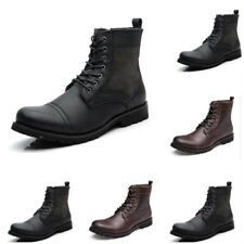 Men's fashion Casual High Boots Cowboy Style High Quality Lace-up Shoes Footwear