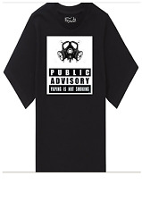 PRINTED T-SHIRT GAS MASK PARENT ADVISORY LOGO DESIGN CUSTOM T SHIRT VAPE IS NOT