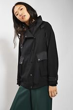 TOPSHOP *Navy Blue Urban Popper Jacket* SIZE_UK6_8_10_12_14_16
