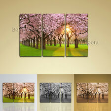 Sunrise Forest Tree Landscape Painting HD Print On Canvas Wall Art Contemporary