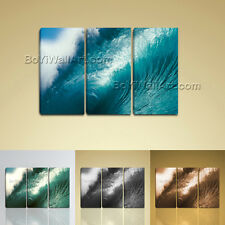 Large Modern Abstract Wall Art Print On Canvas Seascape Sea Wave Home Decor