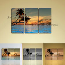 Large Wall Art Print On Canvas Contemporary Sunset Palm Tree Landscape Hawaii