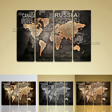 Huge Modern Contemporary Abstract World Map HD Canvas Print Picture Wall Art