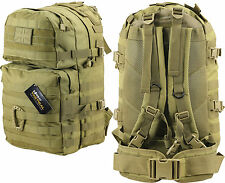 KOMBAT UK MEDIUM MOLLE ASSAULT PACK 40 LTR ARMY TACTICAL AIRSOFT RUCKSACK COYOTE